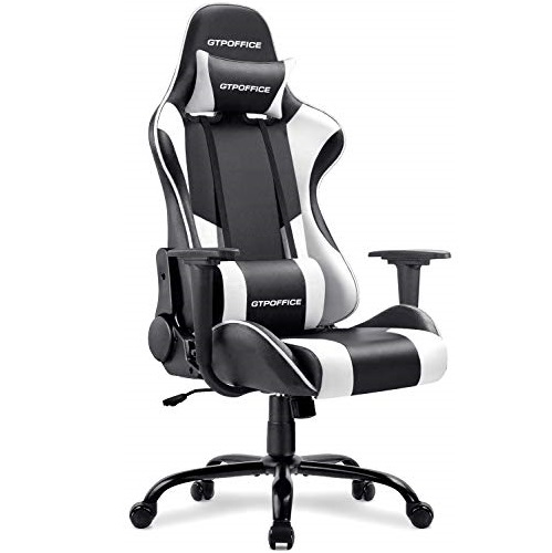 Gtpoffice Gaming Chair Massage Office Computer Chair for Adult