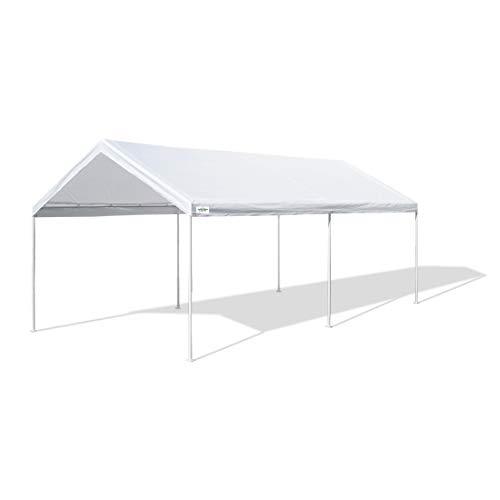 Caravan Canopy D2C20011 Domain Pro 200 10' x 20' Shelter Carport, White