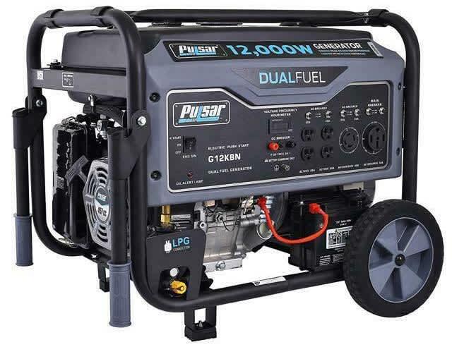 Pulsar 12,000W Dual Fuel Propane/Gas Portable Generator