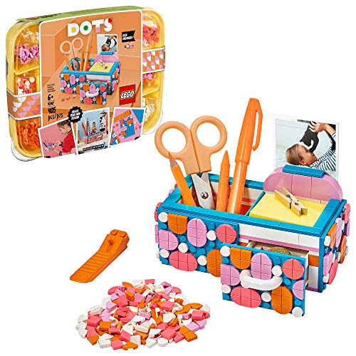 LEGO DOTS Desk Organizer 41907 DIY Craft Decorations Kit for Kids who Like Designing and Redesigning Their Own Room Decor Items to Use, Makes a Fun and Inspirational Gift, 405 Pieces