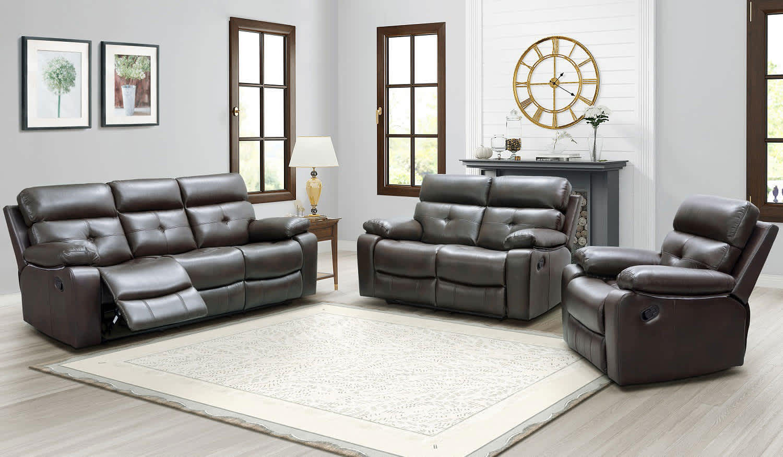 Abbyson Living Augusta 3-Piece Reclining Sofa Set