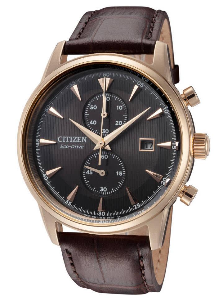 Citizen Men's Eco-Drive Corso Leather Watch