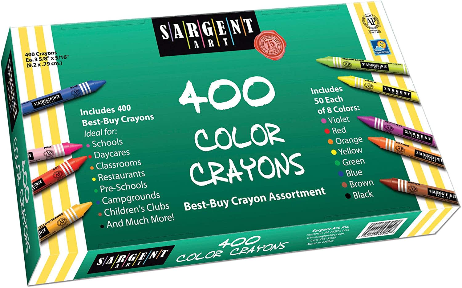 Sargent Art 400-Count Color Crayons