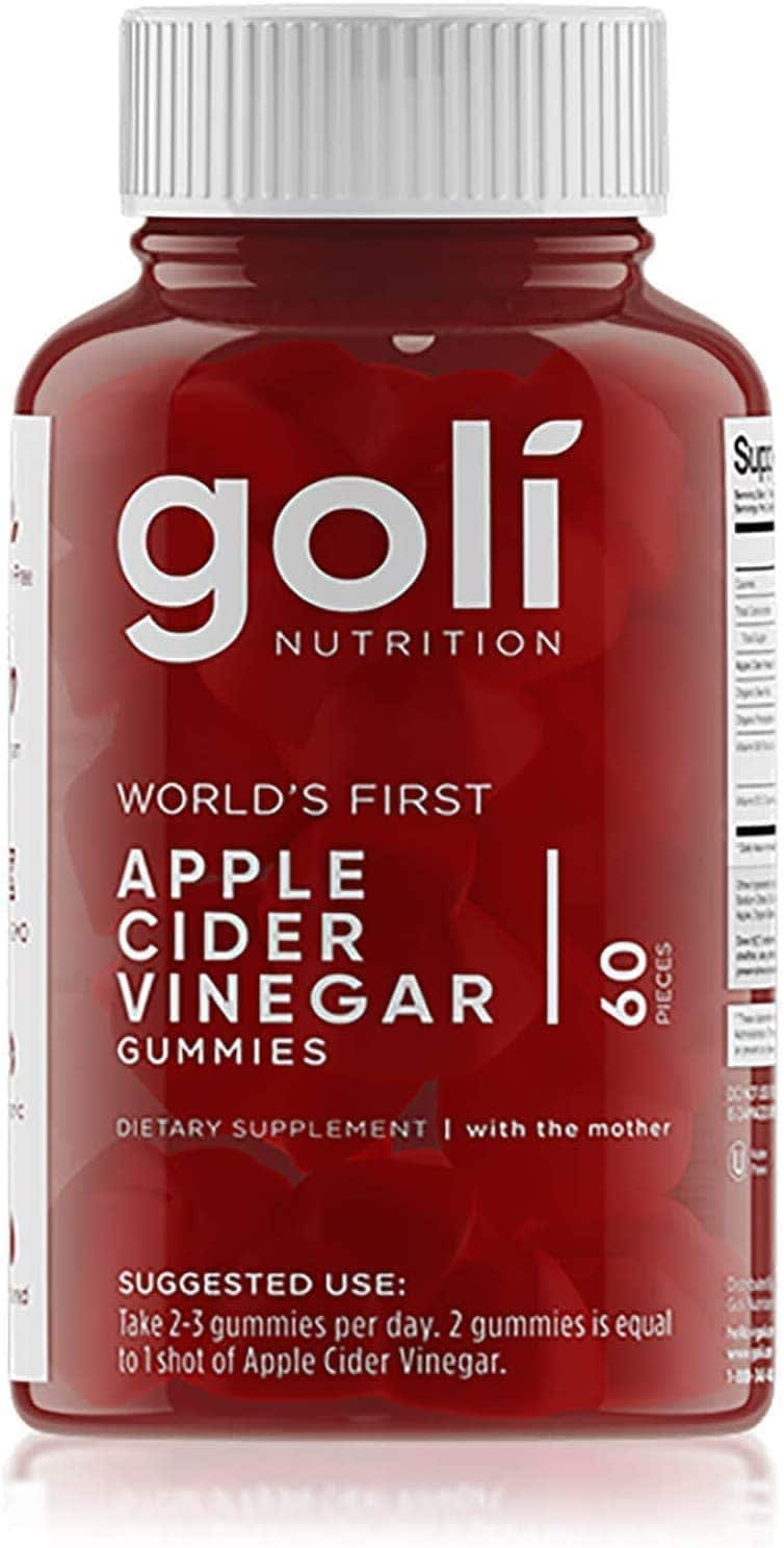 Goli Apple Cider Vinegar Gummy Vitamin 60-Count Bottle