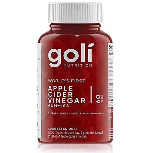 Goli Nutrition Apple Cider Vinegar Gummy Vitamins by Goli Nutrition - Immunity & Detox - (1 Pack, 60 Count, with The Mother, Gluten-Free, Vegan, Vitamin B9, B12, Beetroot, Pomegranate)