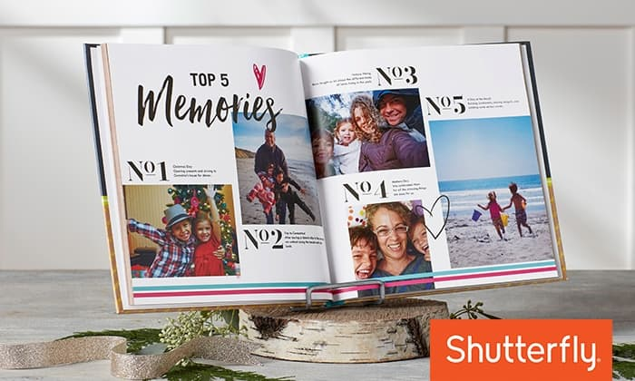 "New Shutterfly Customers: Custom 8""x8"" Hardcover Photo Book (Up to 91 Pages)"