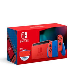 Nintendo任天堂 Switch 游戏家庭主机 马里奥红蓝限定版