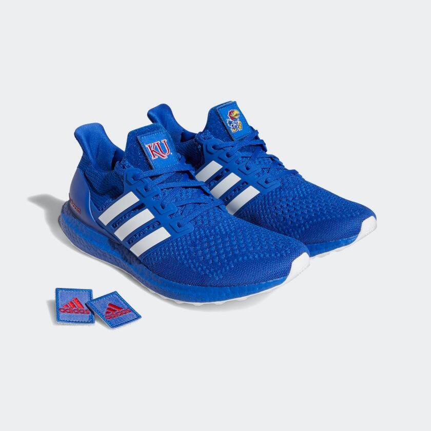 adidas Men's Kansas Jayhawks Ultraboost 1.0 DNA Shoes (Royal Blue / Cloud White)
