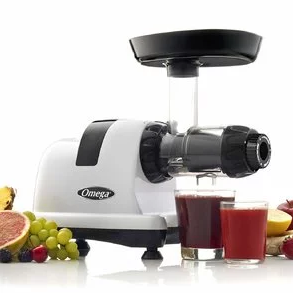 Omega CNC80S Compact Slow Speed Multi-Purpose Nutrition Center Juicer with Quiet Motor Creates Continuous Fresh Healthy Fruit and Vegetable Juice at 80 RPM 200-Watts Silver