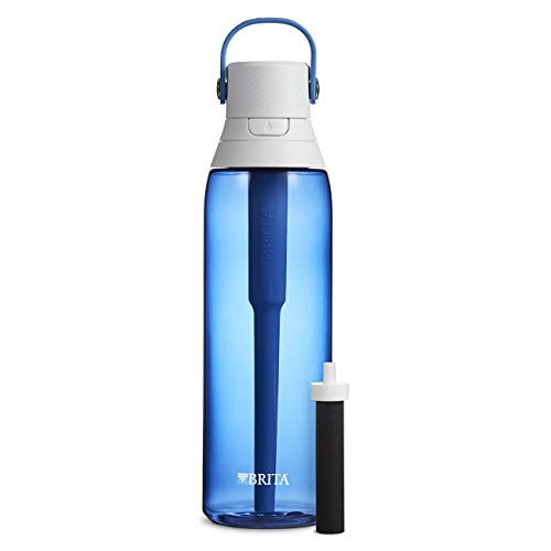 Brita 26 Ounce Premium Filtering Water Bottle with Filter BPA Free - Sapphire
