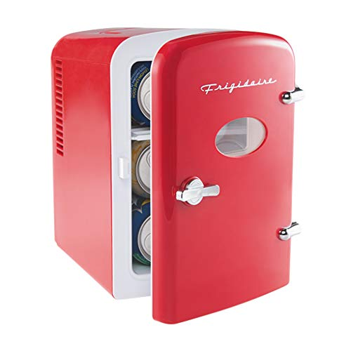 Frigidaire Mini Portable Compact Personal Fridge Cools & Heats, 4 Liter Capacity Chills Six 12 oz Cans, 100% Freon-Free & Eco Friendly, Includes Plugs for Home Outlet & 12V Car Charger