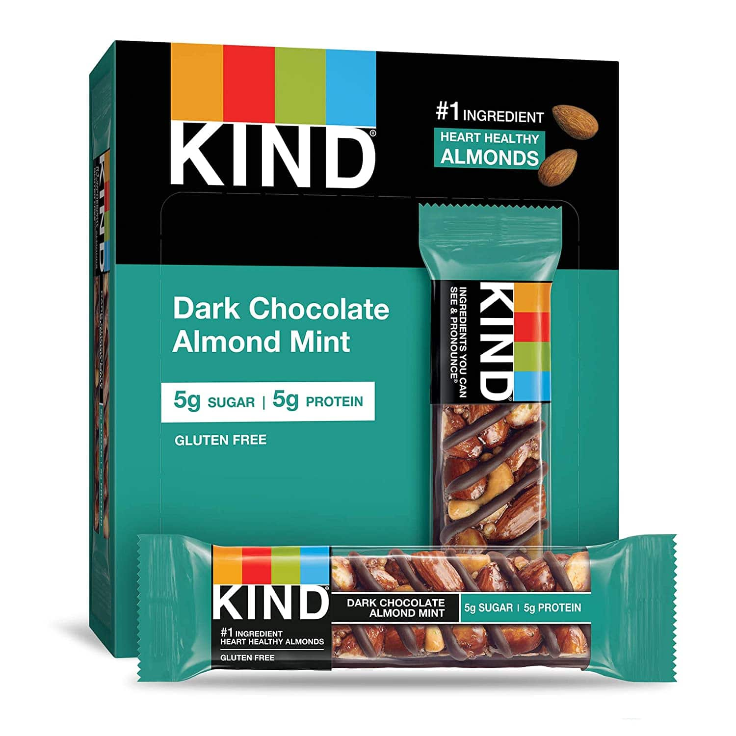 12-Count 1.4-Oz KIND Bars (Dark Chocolate Almond Mint)