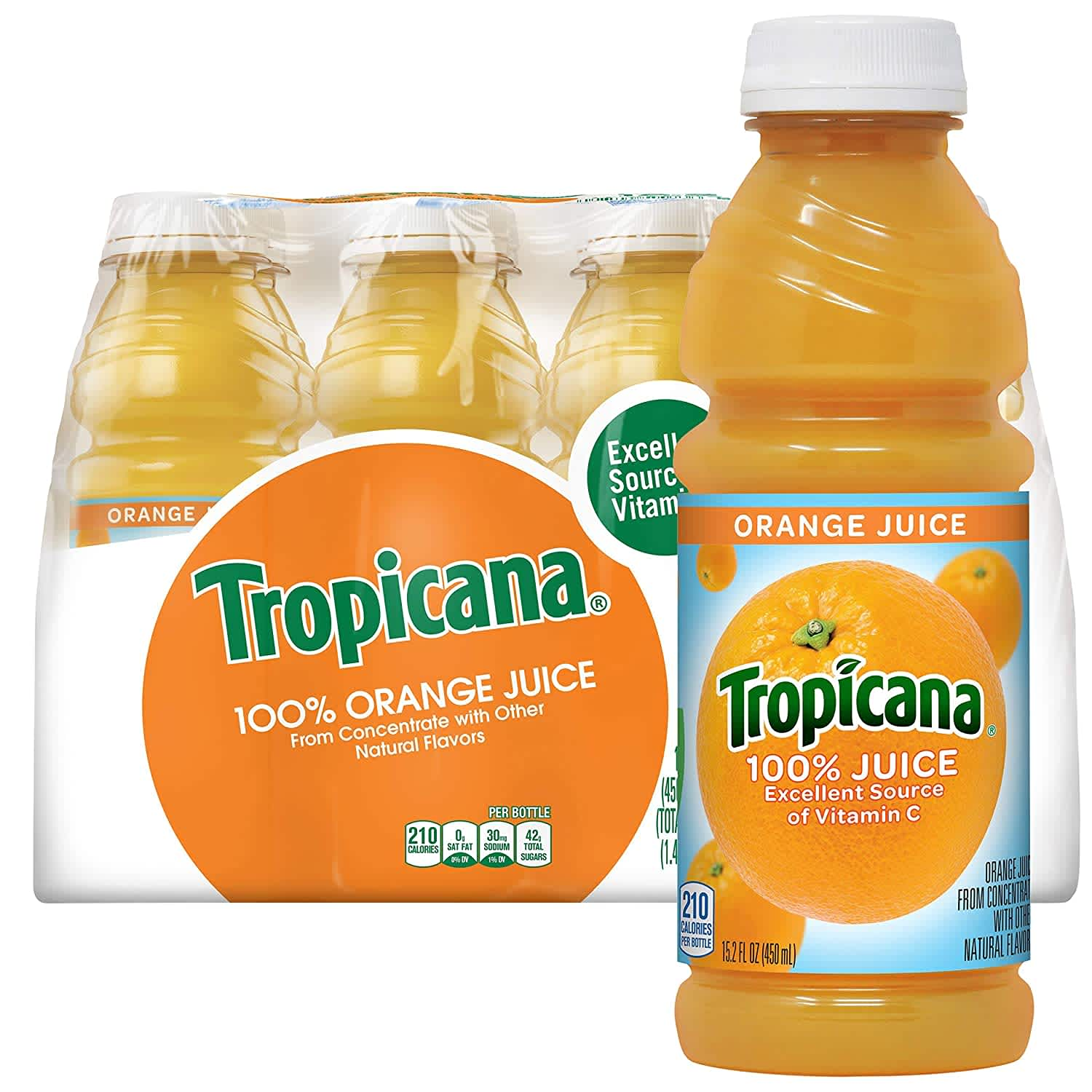 Tropicana Orange Juice 15.2-fl oz. Bottle 12-Pack