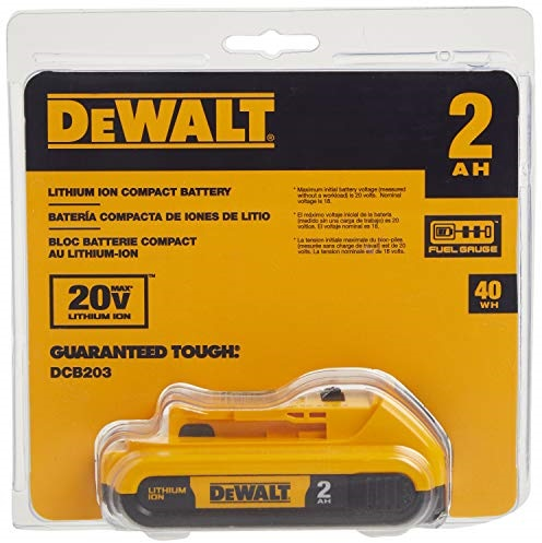 DEWALT 20V MAX Battery, Compact 2.0Ah (DCB203)