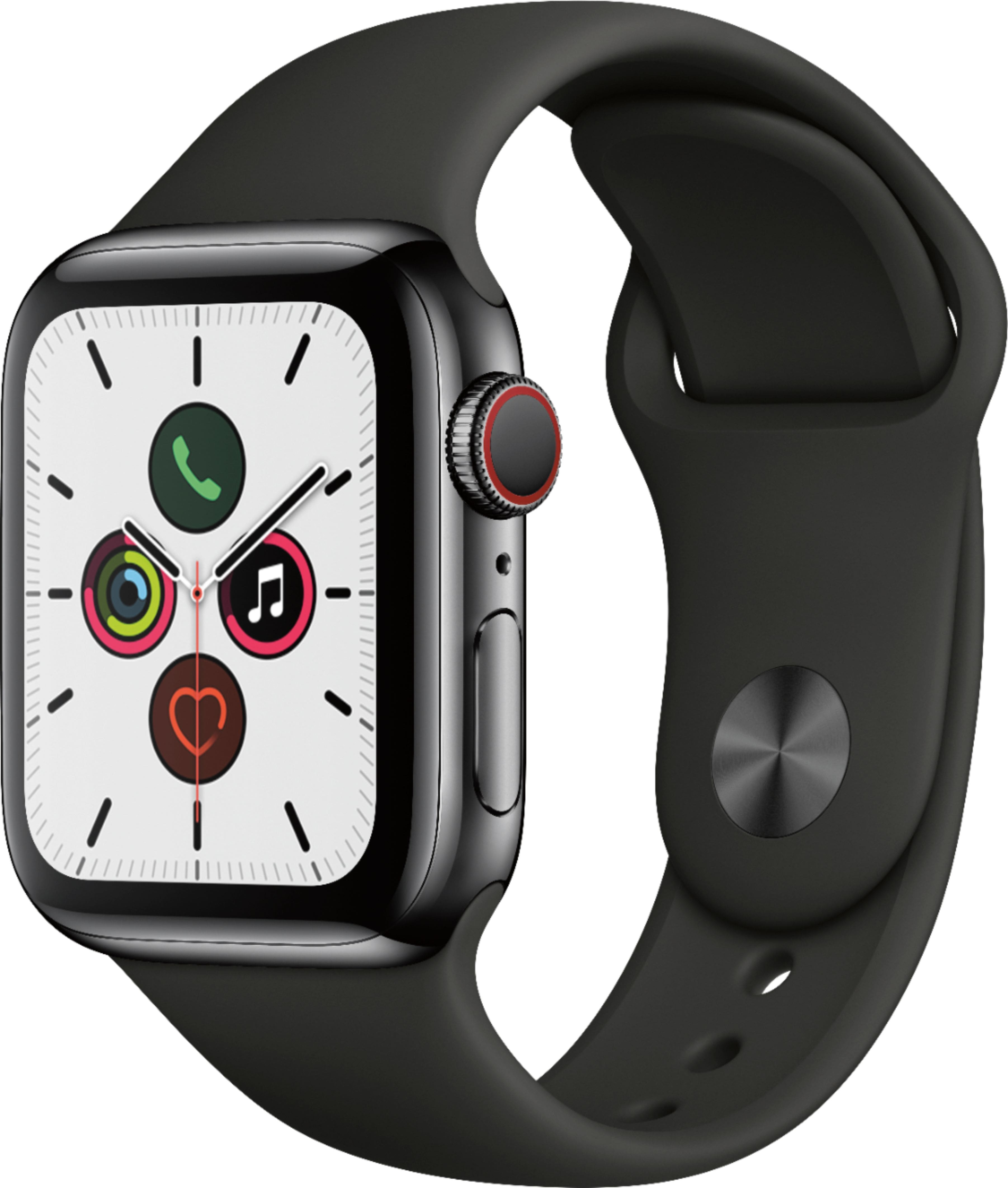 Apple Watch Series 5 GPS + Cellular 40mm (Space Black Stainless Steel Case)