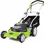 "Greenworks 20"" 3-in-1 12 Amp Electric Corded Lawn Mower"