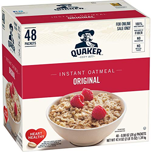48-Packets Quaker Instant Oatmeal (Original)