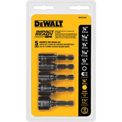 DeWalt 5-Piece Magnetic Nutdrivers Set
