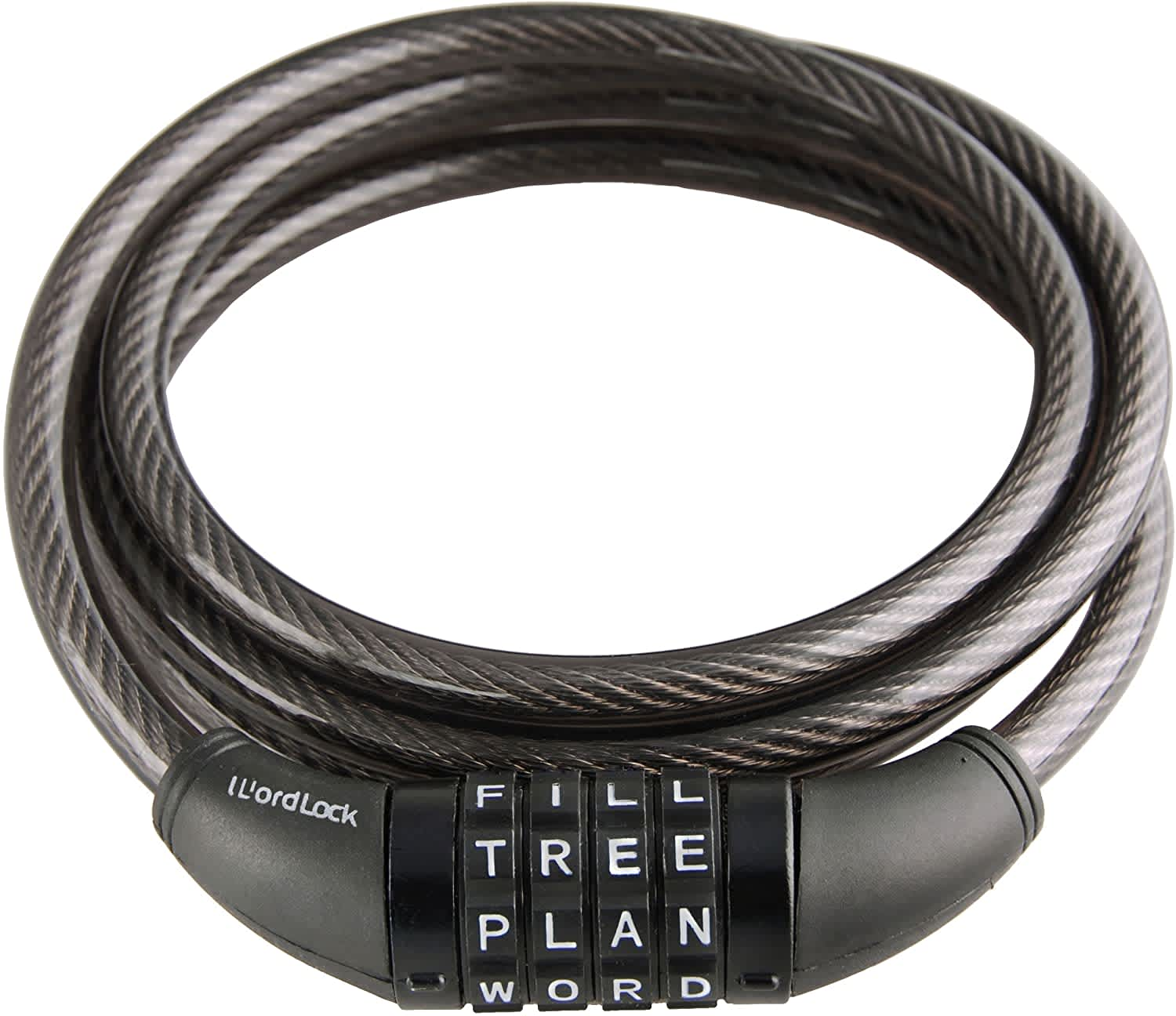 Wordlock 4-Dial Cable Combination Lock