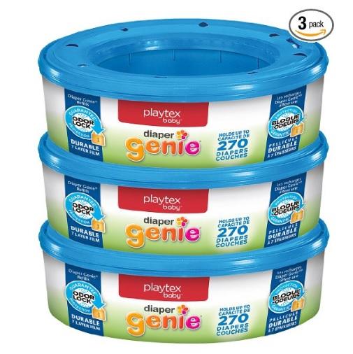 Playtex Diaper Genie 幼儿尿布收集桶塑料袋,270个/盒,共三套