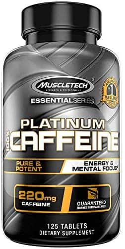 125-Count MuscleTech 220mg Caffeine Tablets (Unflavored)