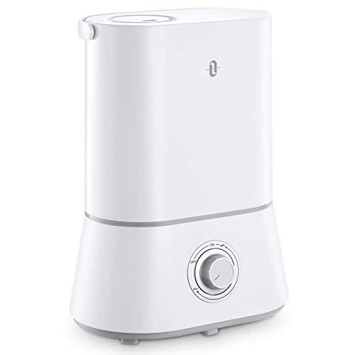 史低价!TaoTronics 超声波静音冷雾加湿器,4升水箱