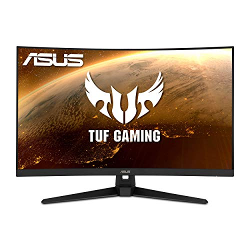 "ASUS TUF Gaming 32"" 1080P Curved Monitor (VG328H1B) - Full HD, 165Hz (Supports 144Hz), 1ms, Extreme Low Motion Blur, Speaker, Adaptive-Sync, FreeSync Premium, VESA Mountable, HDMI"