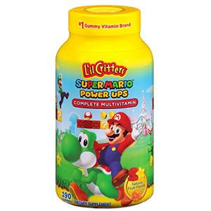 Lil Critters 儿童多种维生素软糖 马里奥限量版 190粒