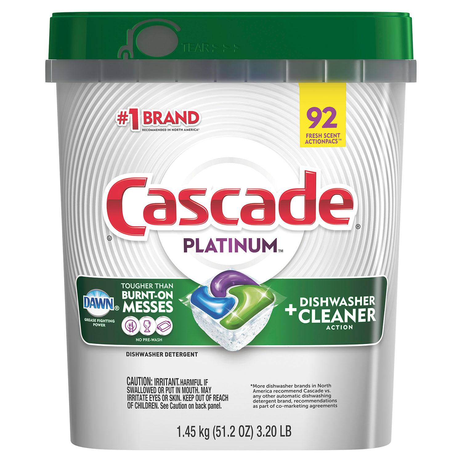 Sam's Club Members: 92-Ct Cascade Platinum ActionPacs Dishwasher Detergent