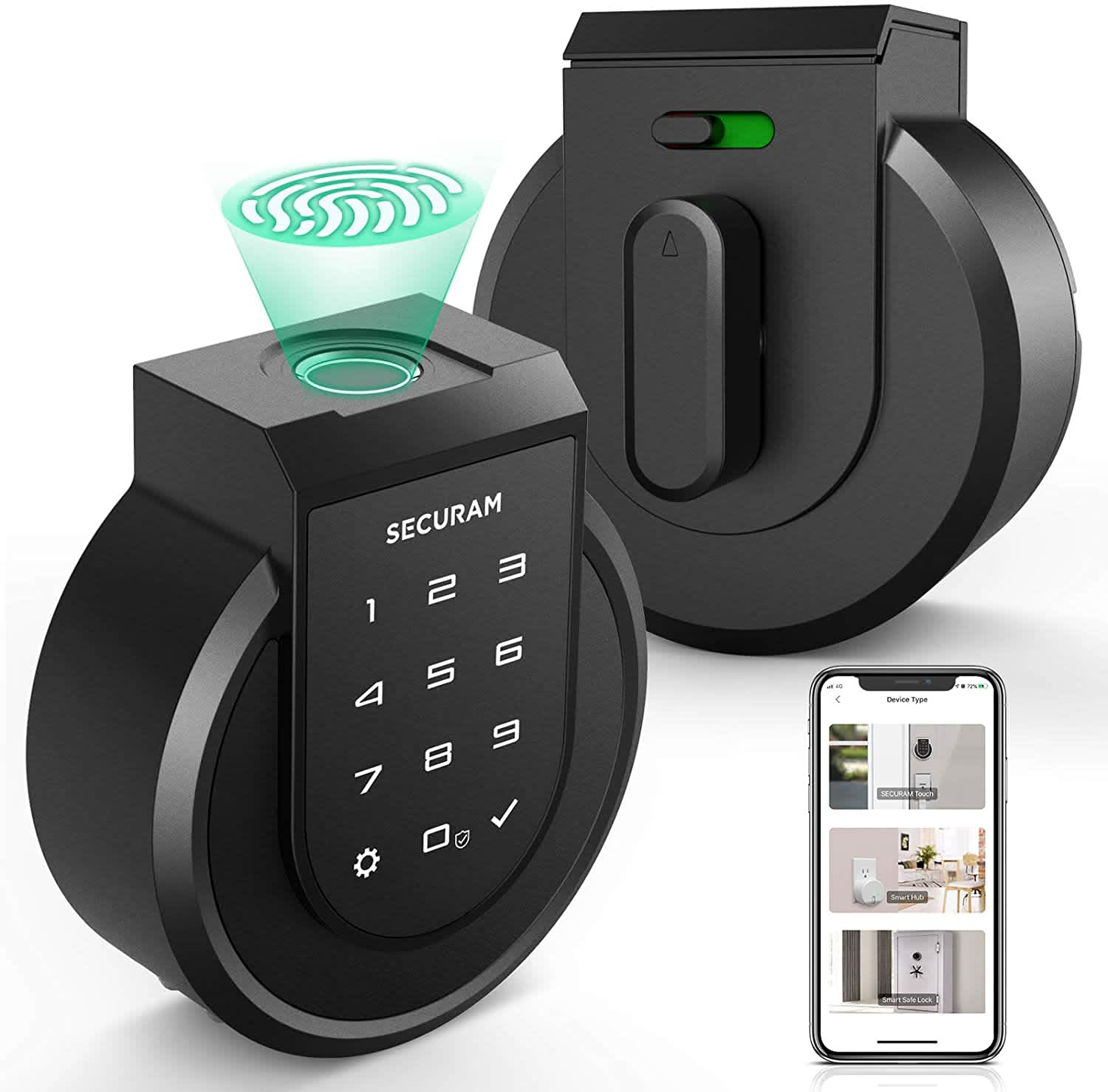 Securam Touch Fingerprint Smart Deadbolt