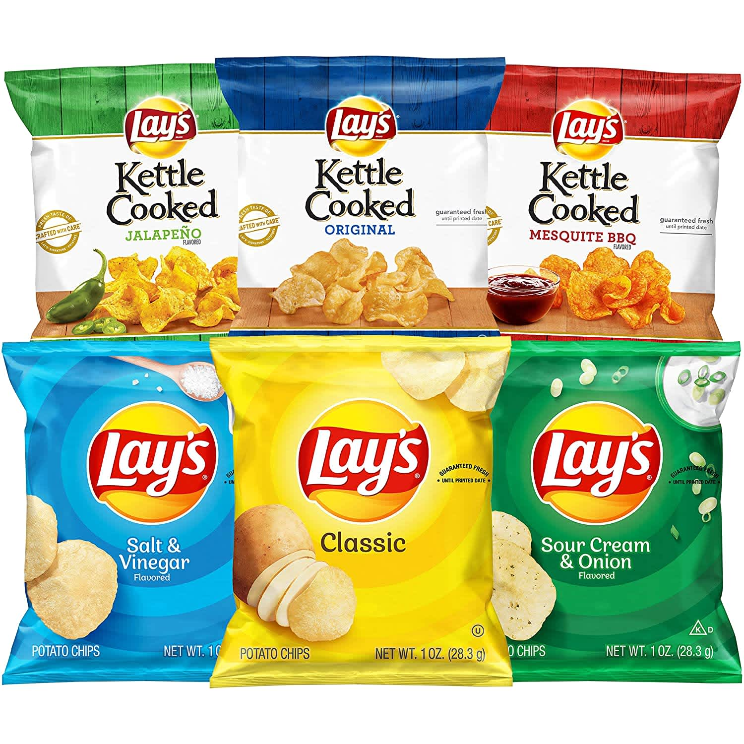 Lay's and Lay's Kettle Cooked Potato Chips Variety 40-Pack