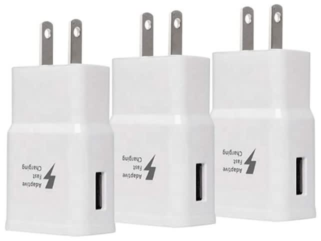 Fast Charging USB Wall Charger 3-Pack