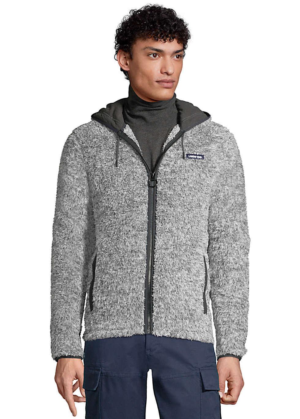 Lands' End Men's Softest Sherpa Fleece Full Zip Hoodie (L Sizes)