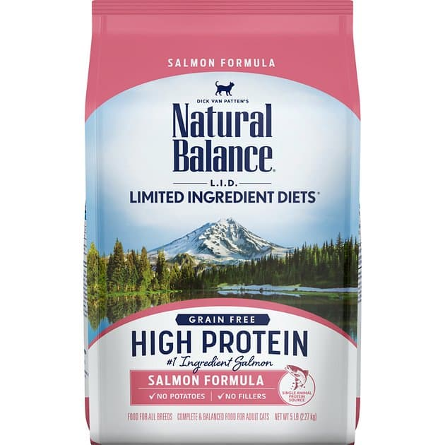 5-Lbs Natural Balance L.I.D. High Protein Dry Cat Food (Salmon)