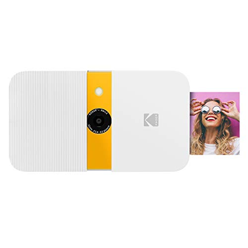 KODAK Smile Instant Print Digital Camera – Slide-Open 10MP Camera  (White/ Yellow)