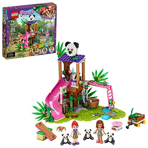 LEGO Friends Panda Jungle Tree House 41422 Building Toy; Includes 3 Panda Minifigures for KidsWho Love Wildlife Animals Friends Mia and Olivia, New 2020 (265 Pieces)