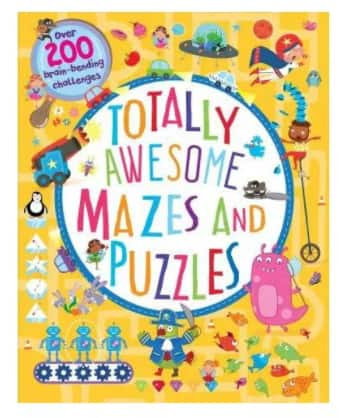 Totally Awesome Mazes & Puzzles: Over 200 Brain-Bending Challenges (Paperback)
