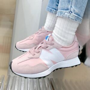 New Balance新百伦327大童款复古休闲跑鞋 粉色