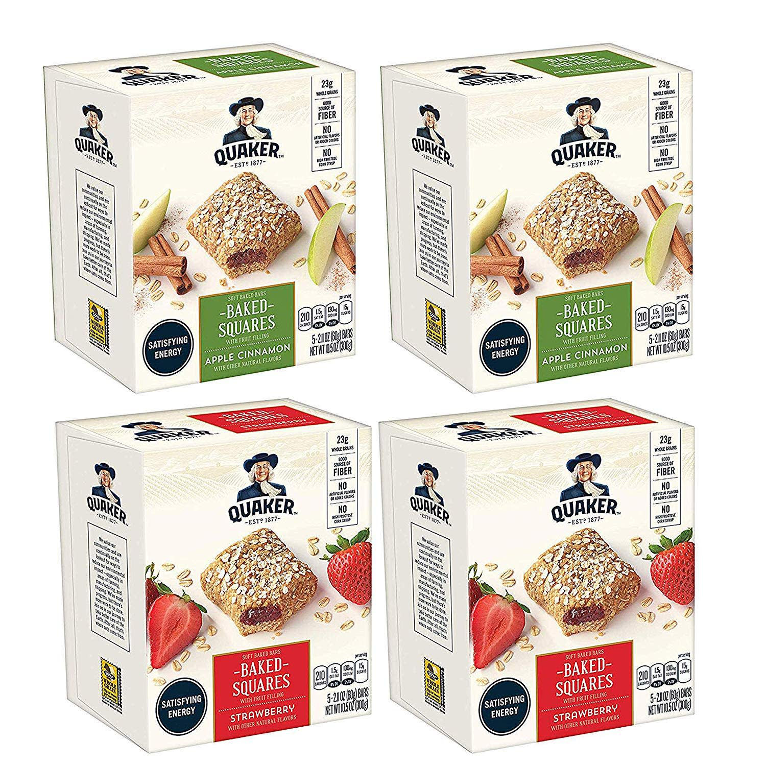Quaker Oats Baked Squares Soft Baked Bars 20-Pack