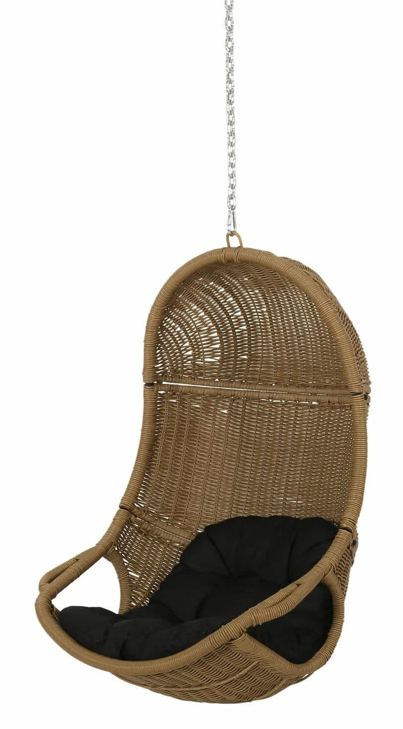 GDFStudio Berrien Orville Wicker Hanging Nest Chair