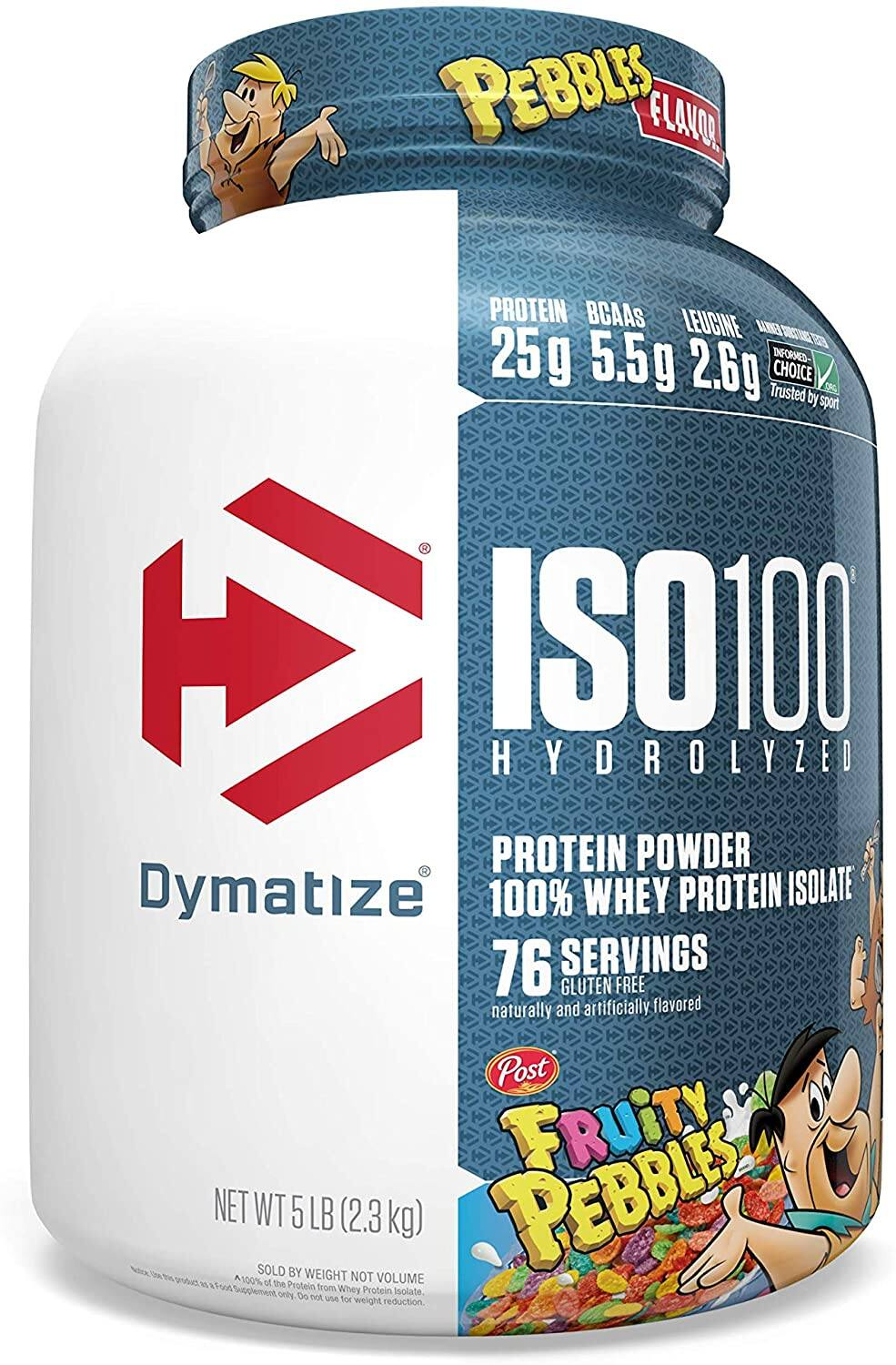 5-lbs Dymatize ISO100 Hydrolyzed 100% Whey Isolate Protein Powder (Cocoa or Fruity)