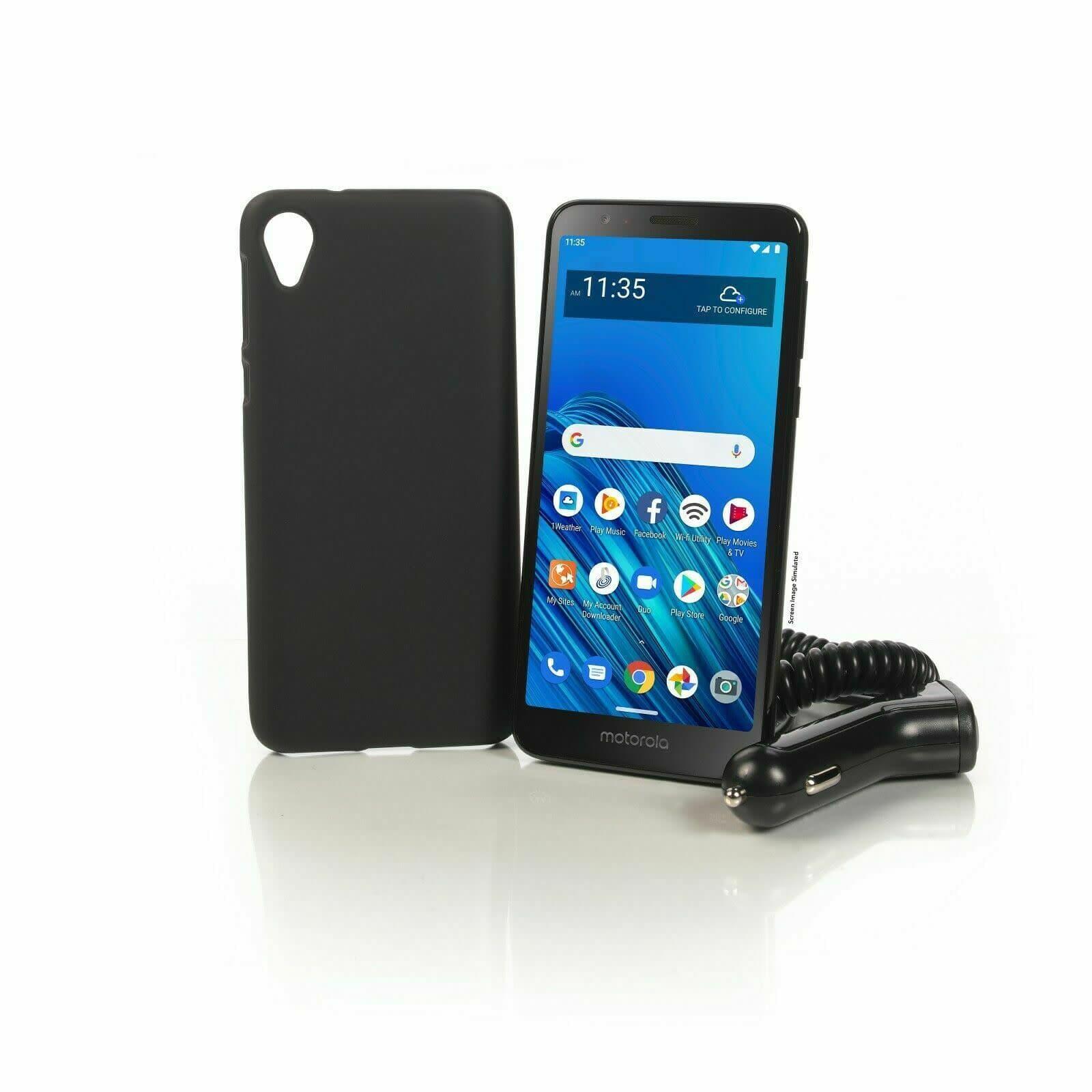 Motorola Moto e6 16GB Android Phone for Tracfone w/ 1yr Service