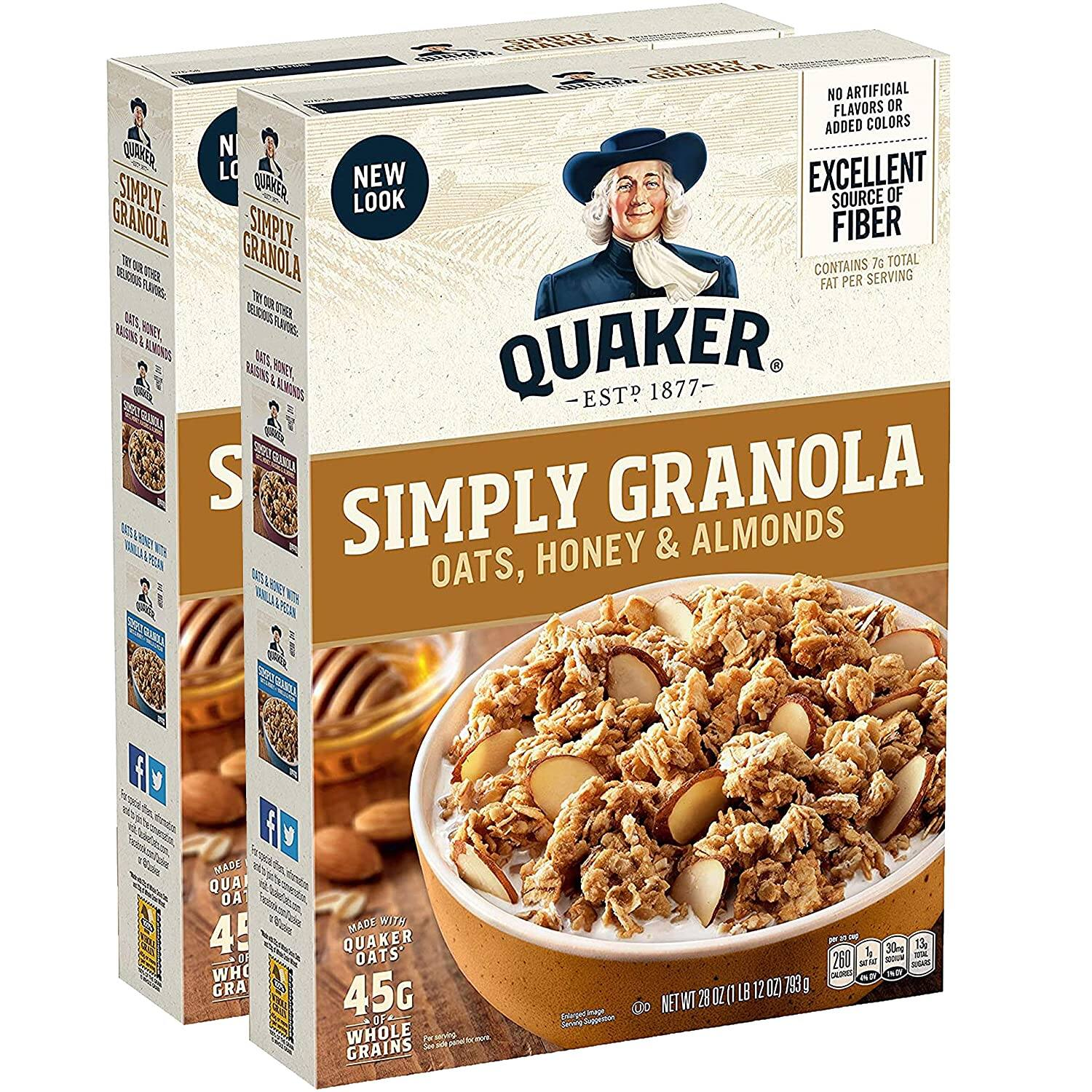 2-Pack 28-Oz Quaker Simply Granola Oats (Honey & Almonds)