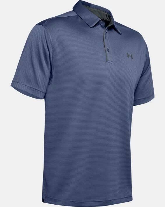 Men's UA Tech Polo (Hushed Blue / Pitch Gray)