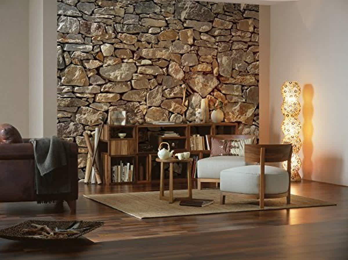 Brewster 12x8-Foot Stone Wall Mural