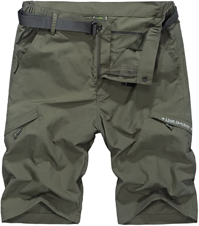 Vcansion Men's Quick-Dry Hiking Shorts