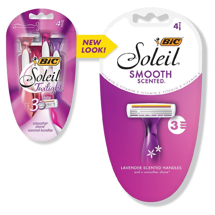 BIC Disposable Shavers: 4-Pack BIC Soleil Twilight Smooth Scents Women's Shavers