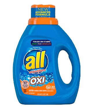 36-Oz all Liquid Laundry Detergent w/ Oxi Stain Removers and Whiteners