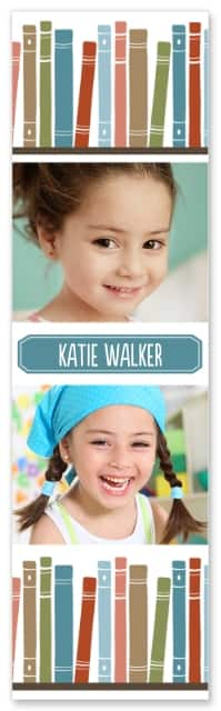 "Walgreens Photo: Set of 4 2""x7"" Customized Bookmarks"