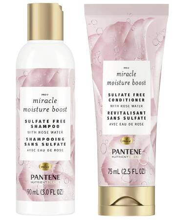 Pantene Nutrient Blends Miracle Moisture Boost: 3oz Shampoo + 2oz Conditioner